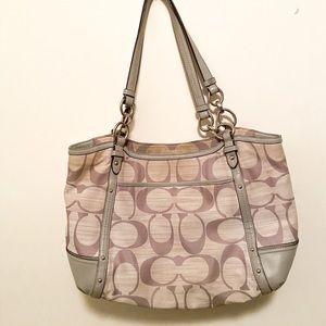 Grey Coach shoulder bag